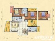 惠泽公园1号H户型3室2厅2卫3阳台121㎡