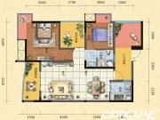 惠泽公园1号E户型2室2厅1卫1阳台97㎡