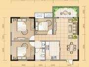 黄金海岸D户型3室2厅1卫1阳台110.61㎡