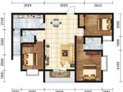 凤凰香郡二期 捌号院02户型3室2厅2卫116.74㎡