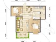 天正世界之窗B户型2室2厅1卫1阳台86.79㎡