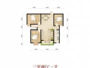 波兰尚龙城二期B3/B4户型3室2厅1卫1阳台111.505㎡