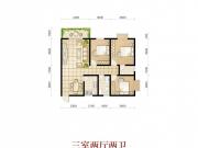 波兰尚龙城二期A16户型3室2厅2卫1阳台108.29㎡