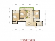 波兰尚龙城二期B16户型3室2厅2卫1阳台129.18㎡