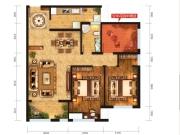 远洋盛荟A户型2室2厅1卫113.65㎡