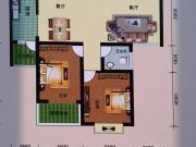 阳光华府B户型2室2厅1卫1阳台92㎡