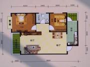 阳光华府D户型3室2厅1卫1阳台101㎡