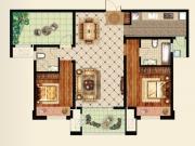 大美盛城D户型2室2厅2卫110.75㎡