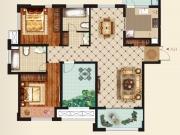 大美盛城F户型2室2厅2卫133.22㎡