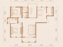 亿科红郡9/10#A户型2室2厅2卫 120.49㎡