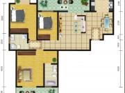 郧阳国际园7-A/B户型3室2厅2卫2阳台132.03㎡