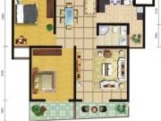 郧阳国际园7-C/D户型2室2厅1卫2阳台90.62㎡