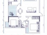市井老街2#D户型2室2厅1卫82.15㎡