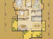 翰林华府F户型3室2厅2卫141.12㎡