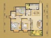 翰林华府G户型3室2厅2卫122.39㎡