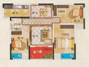 广银翡翠城B1户型3室2厅1卫110㎡