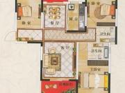 广银翡翠城C1户型3室2厅2卫124㎡