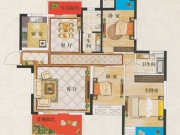 广银翡翠城D1户型3室2厅2卫128㎡
