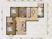 碧水方圆12#K6户型3室2厅2卫2阳台136.22㎡