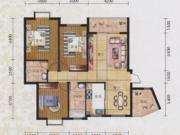 碧水方圆12#H1户型3室2厅2卫2阳台126.43㎡