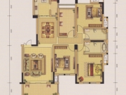 上海花园E户型3室2厅2卫150.87㎡