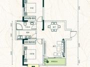 庄仪橡树湾2#-A户型2室2厅1卫84.37㎡