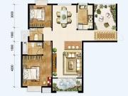 锦绣翰林5户型2室2厅2卫120㎡
