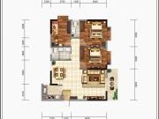 龙门广场B1户型3室2厅2卫109.89㎡