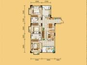 龙门御城L8户型3室2厅2卫117.61㎡