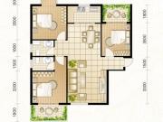 龙门星苑D户型3室2厅2卫120.50㎡
