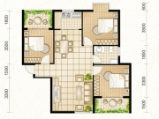 龙门星苑F户型3室2厅1卫108.58㎡