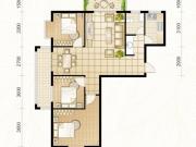 龙门星苑G户型3室2厅1卫122.15㎡