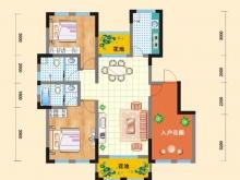 亿科红郡1/2/6#-A户型2室2厅2卫 107.05㎡