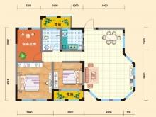亿科红郡6#-C户型2室2厅1卫 104.68㎡