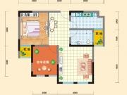 亿科红郡7#-B户型2室2厅1卫70.19㎡