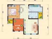 亿科红郡7#-B户型2室2厅1卫 70.19㎡