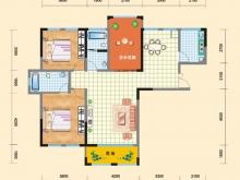 亿科红郡9/10#-A户型2室2厅2卫 116.64㎡