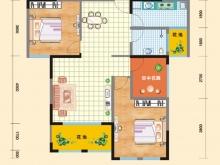 亿科红郡9/10#-B户型2室2厅1卫 89.14㎡