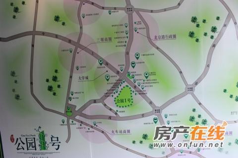 惠泽公园1号交通图