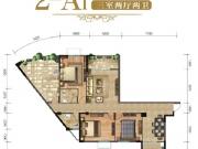 佳恒尚居2-A1户型3室2厅2卫153.77㎡