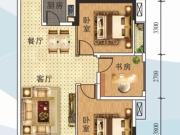 全兴星湖湾C2户型3室2厅1卫93.18㎡