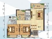 全兴星湖湾C4户型3室2厅2卫116.64㎡