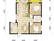 朗琴国际D1/2户型2室2厅1卫81.27㎡