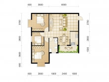 东城华府D3户型3室2厅1卫 100.24㎡