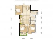东城华府D4户型3室2厅2卫 114.33㎡