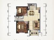 上海路金座1/2-D户型2室2厅1卫82.59㎡