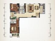 上海路金座3-A/B户型2室2厅2卫115.65㎡