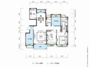 大洋五洲F1-1/F1-2户型4室2厅2卫150.52㎡