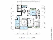 大洋五洲F1-1/F1-2户型4室2厅2卫 150.52㎡
