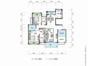 大洋五洲G1-1/G1-2户型3室2厅2卫128.16㎡